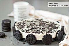 Tarta de chocolate blanco y galletas oreo, sin horno, fresca y bonita
