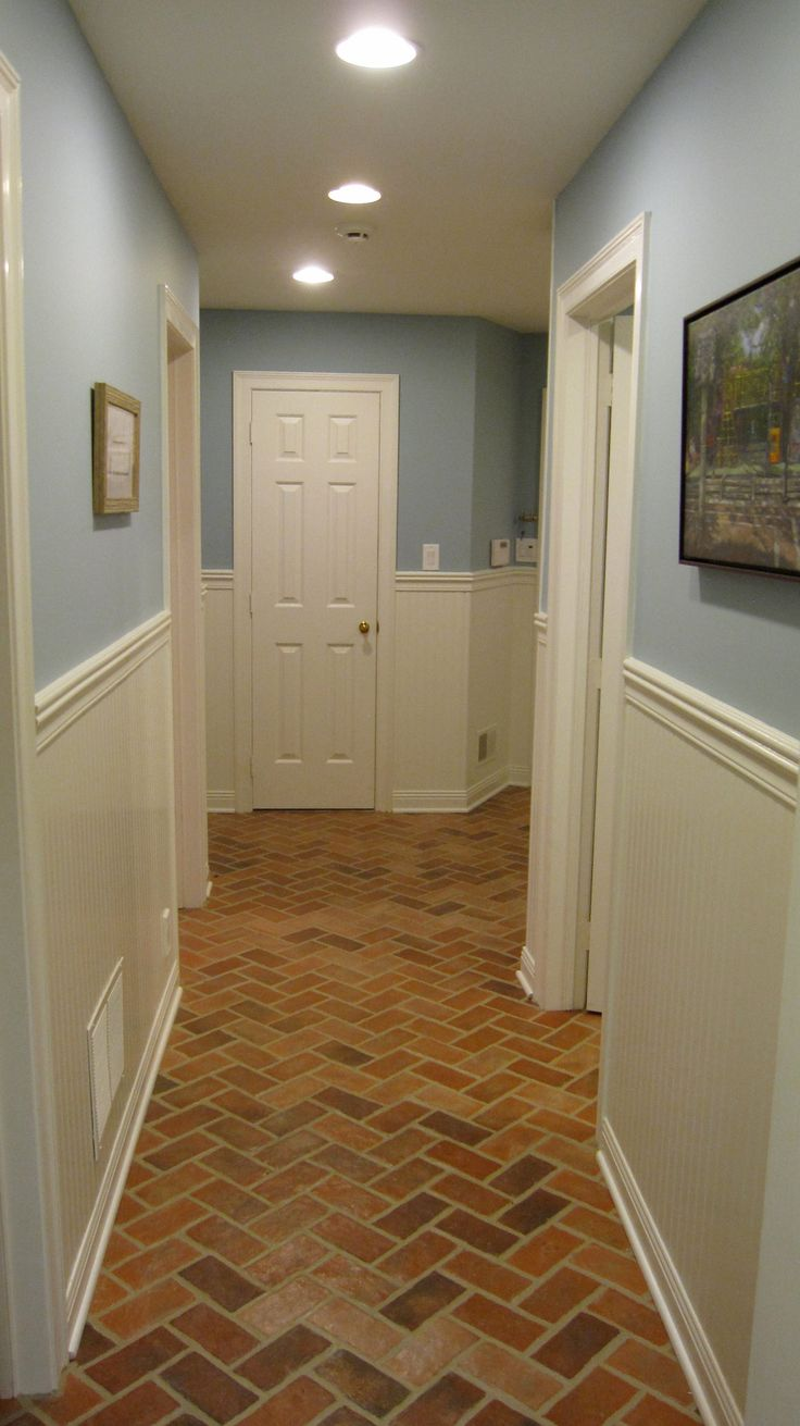 100 best brick tile floor entries and hallways images on pinterest rutherford brick tile hall providence color mix and a semi gloss sealer doublecrazyfo Image collections