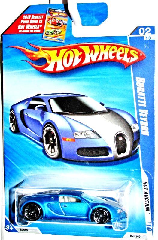 Hot Wheels 2010 Bugatti Veyron HW Hot Auction 1:64 Scale Satin Blue #160/240 | Hot wheels toys ...