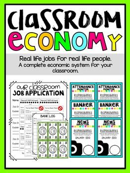 Real Jobs for Real People It's never too early to start teaching children about financial responsibility! My students have a BLAST with our classroom economy. I have provided you with all the materials you will need to be successful in this adventure.*Check out the preview for a closer look!*Job Posters Include: (Editable Version Included)(You will have more than one of the following jobs for your classroom economy to run smoothly) BankerMessengerPolice…