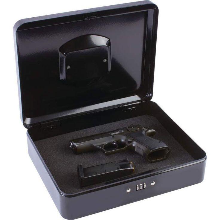 New Metal Gun Safe Case Combination Lock Weapon Gun Pistol