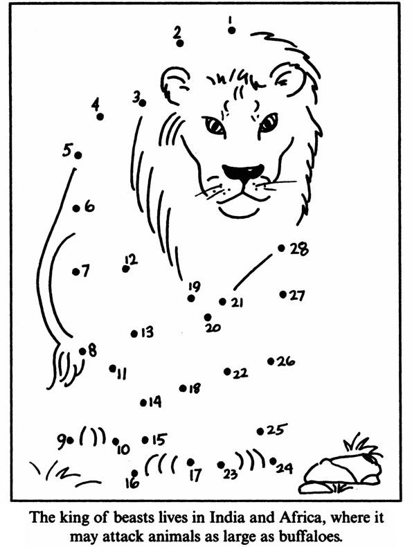 Welcome to Dover Publications Zoo Animals Dot-to-Dot