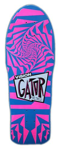 Gator Vision deck. Old School vintage 1980's colors galore. Used to be able to pick these up pretty cheap and were pretty durable