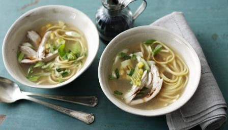 Chicken noodle soup is a great recipe: it's easy to make, uses up leftovers, and feels supremely comforting to eat.