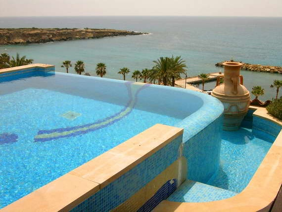 Coral Beach Hotel and Resort, Paphos, Cyprus. The warm weather training ground for the British Olympic team