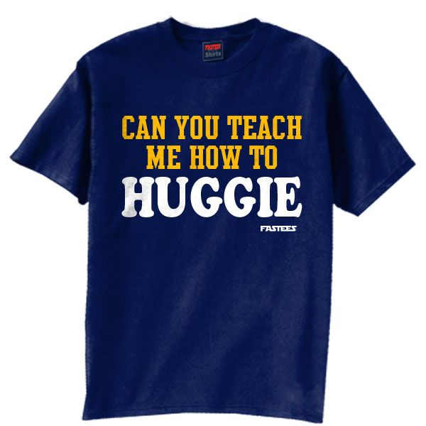 Teach Me How To Huggie Navy - T-Shirt
