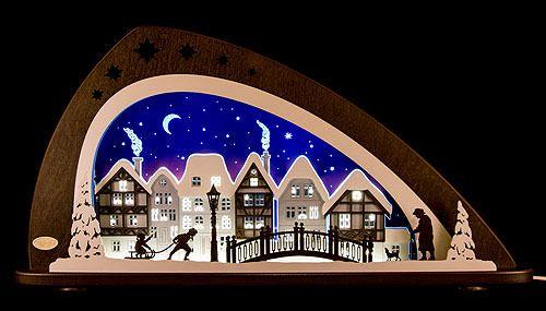Schwibbogen LED Winter in der Altstadt
