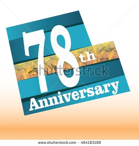 78th anniversary logo with blue background and golden leaf texture in the middle
