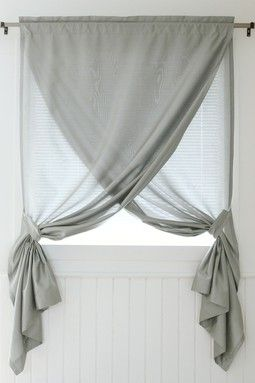 Faux Silk Overlapping Curtain Panel - Grey