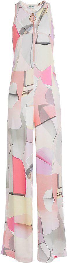 Pin for Later: 30 Combinaisons à Pantalon Palazzo Que Vous Allez Vouloir Pour la Rentrée  Kenzo Combinaison en crêpe stretch Paper (649€)