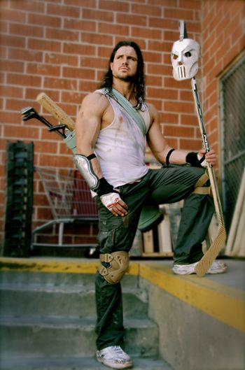 This is perfect. WWE's John Morrison as Casey Jones.