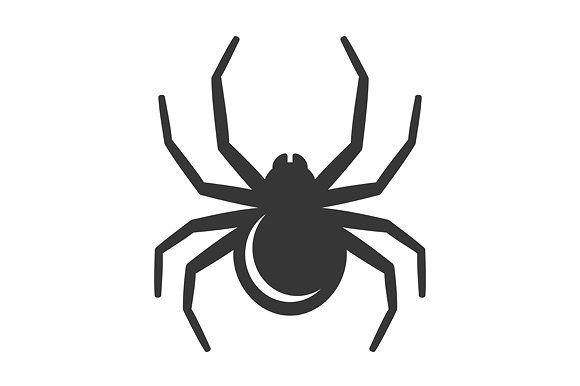 Black Spider Icon Spider Black Spider Black And White Drawing