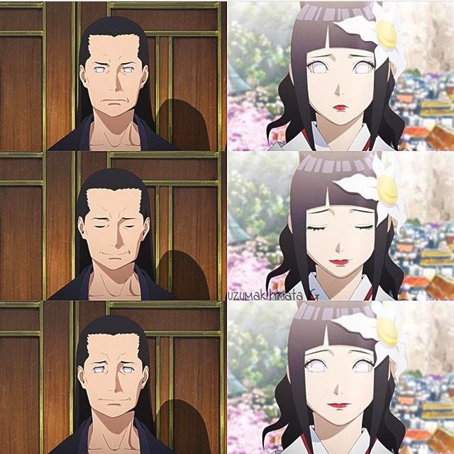 Hinata and her father on her wedding day