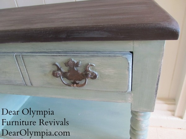 I Couldn 39 T Make Up My Mind And Painted This Antique Buffet Three Times Using Cece Caldwell 39 S