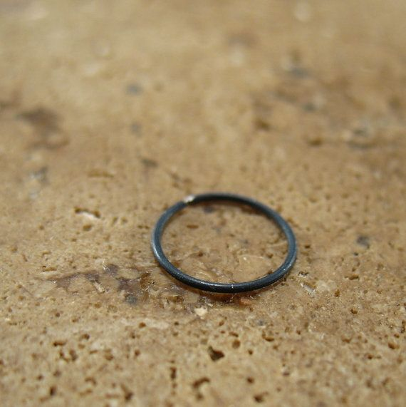 Black Nose Ring Niobium Nose Ring/Black Nose by MysticMoons