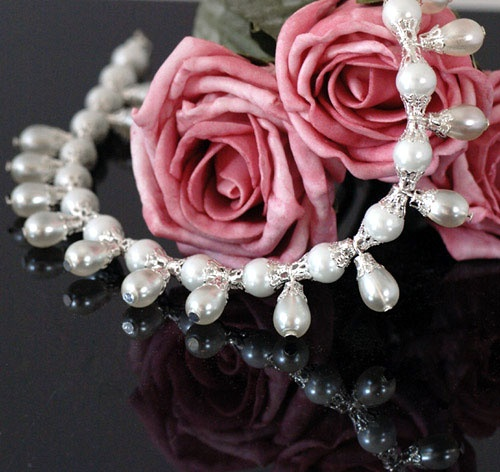 ~ SOLD ~ Maharani Pearl Drop Necklace. A beautiful romantic piece reminiscent of the Edwardian age of Elegance.