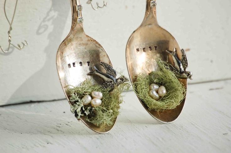 Blackbirds & Bumblebees: DIY Nest Spoon Ornaments