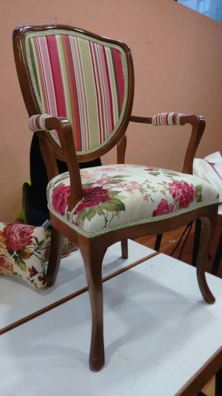 Mi silla tapizada por mi ...