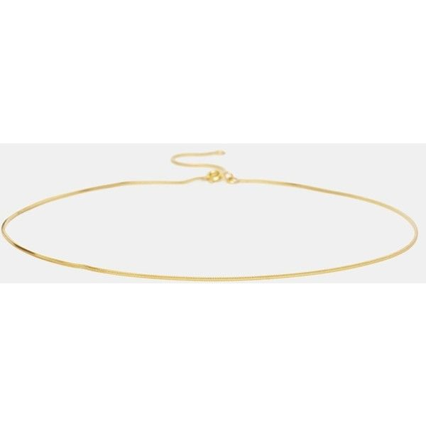 ASOS Gold Plated Sterling Silver Choker Necklace ($26) ❤ liked on Polyvore featuring jewelry, necklaces, choker, gold, asos, asos choker, gold plated sterling silver necklace, sterling silver jewellery and sterling silver choker