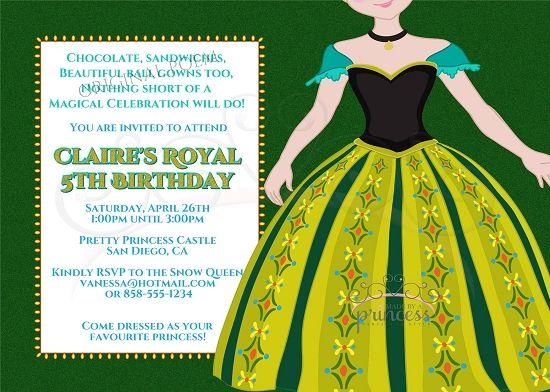 32 best Invitations images on Pinterest Frozen party, Invitations - invitation birthday frozen