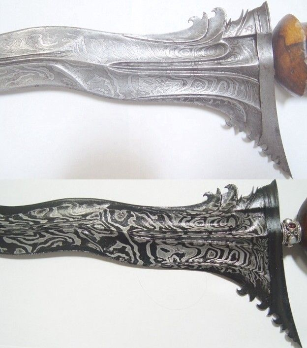 warrior keris blade carving antique pamour