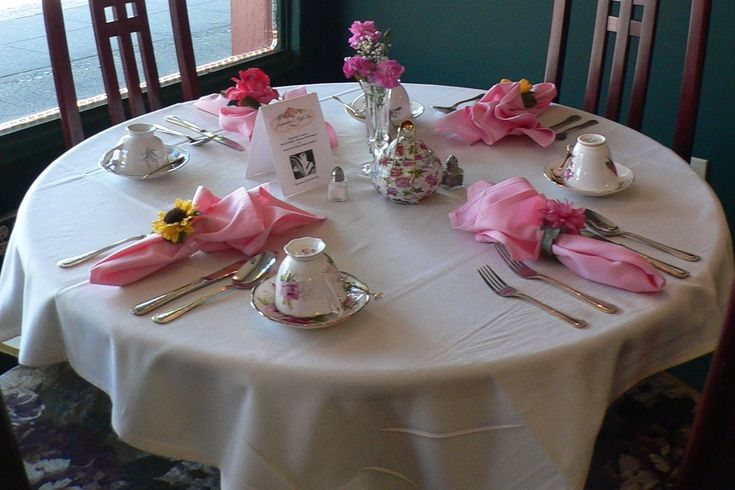 Tea Party- all of the tables set up with food and china and tea so that there's no buffet. Description from pinterest.com. I searched for this on bing.com/images