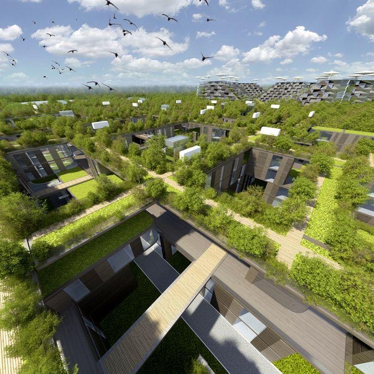 Les 37 meilleures images du tableau futur habitat sur for Architecture futuriste ecologique