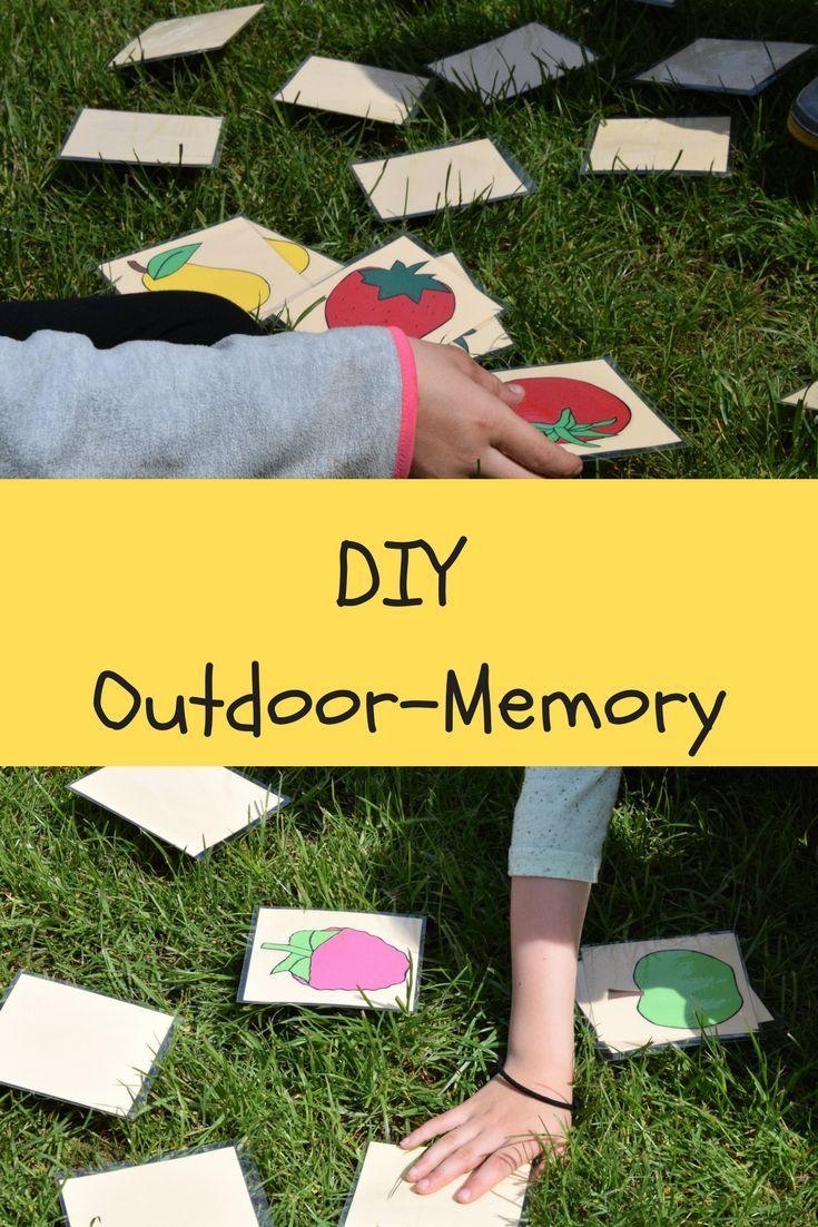 Diy Spiele Fur Den Garten Ein Outdoor Memory Fur Kinder Selber