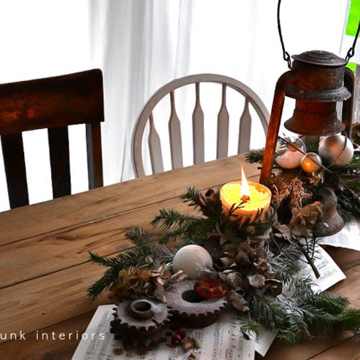 One very rusty Christmas centrepiece