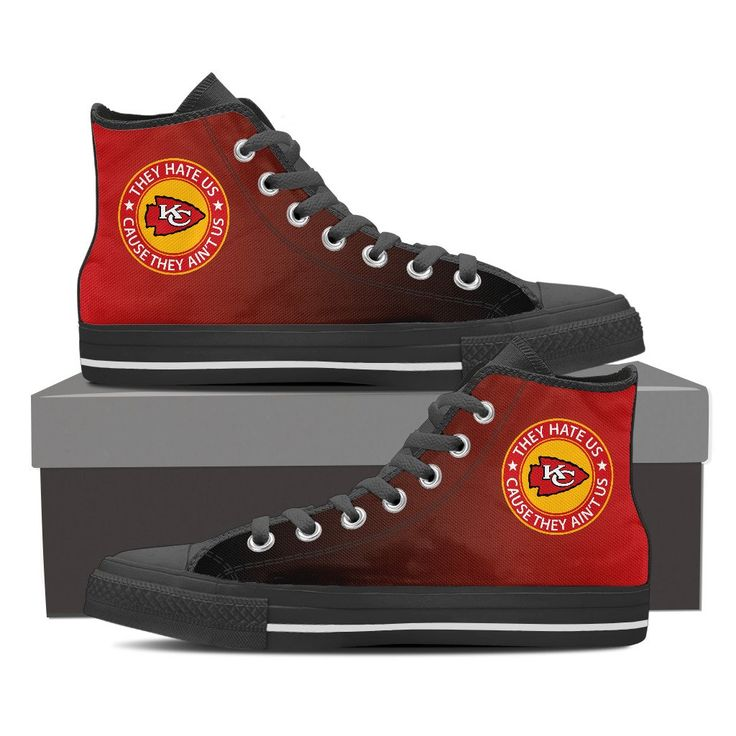 They Hate Us Cause They Ain't Us Kansas City Chiefs High Top Shoes – Best Funny Store