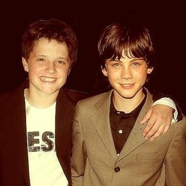 Young Josh Hutcherson and Logan Lerman. OH MY GOSH!!! :)