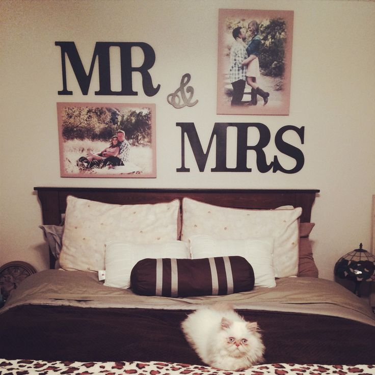 Mr mrs letters above my bed super easy and cheap got for Simple cheap bedroom designs