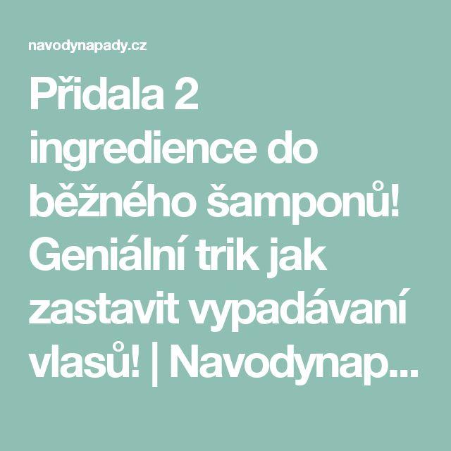 Přidala 2 ingredience do běžného šamponů! Geniální trik jak zastavit vypadávaní vlasů! | Navodynapady.cz