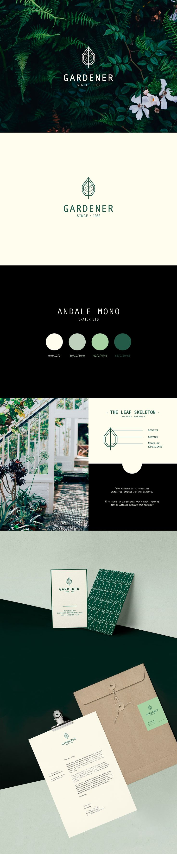 THE GARDENER // Branding on Behance  Love the colours!