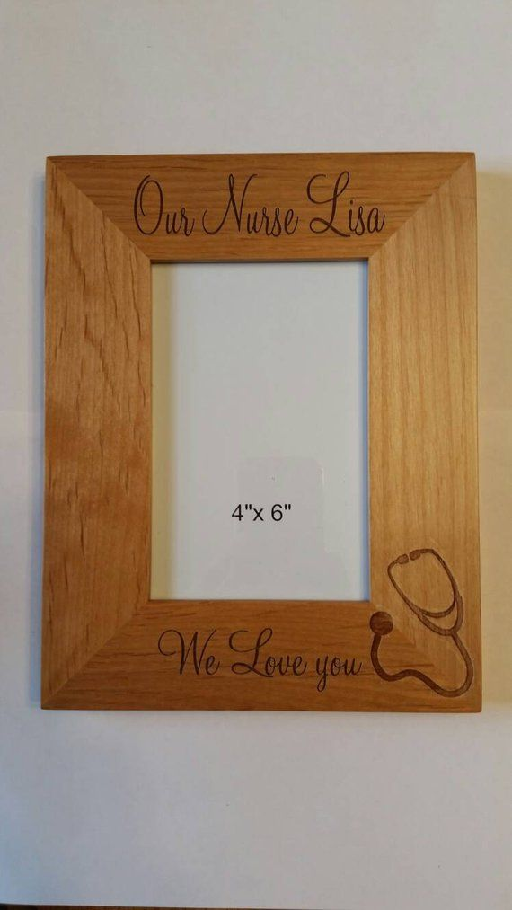 Personalized Laser Engraved Wood Picture Frame For Nurse Doctor