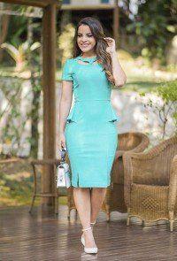 68d922db2 modelo-paula-santana-vestido-peplum-azul-raje1   Curvas peligrosas ...