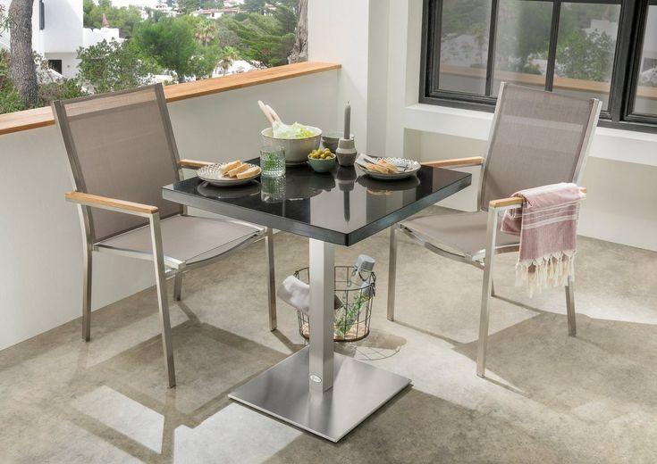Gartensessel Macao Stahl Textil Stapelbar Gartenstuhle