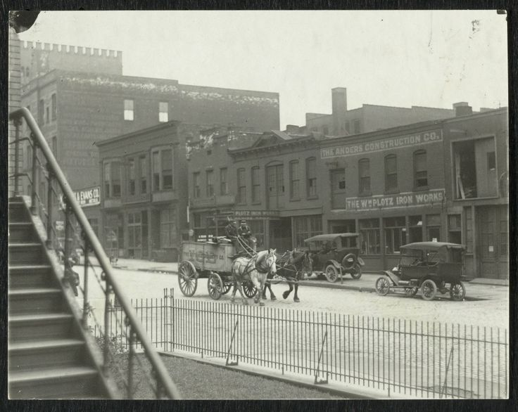 Champlain opposite old police station about 1910.