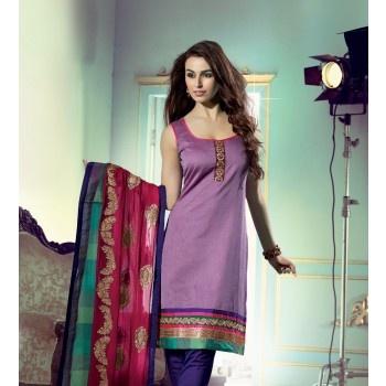Purple Chanderi Silk #UnstitchedDressMaterial # Odisha Saree Store # Sambalpuri Dress, Sambalpuri Saree, Sambalpuri Sarees