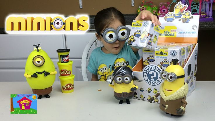 HUGE MINIONS MYSTERY MINIS CASE BIG PLAYDOH MINIONS SURPRISE EGG MINION ...