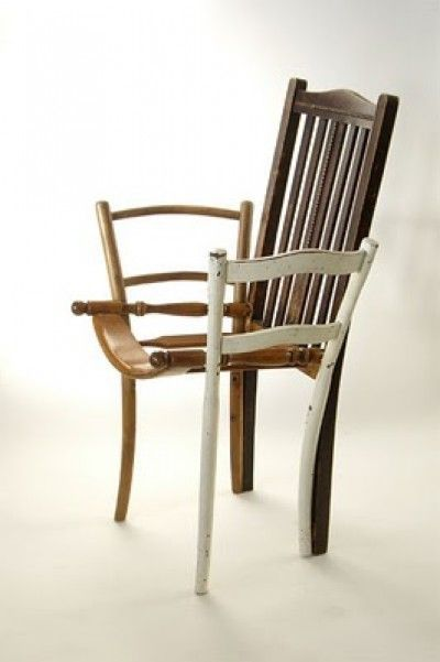 Silla reciclada/ Recycled chair  #recycle design