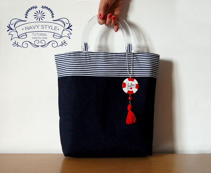 Piccolecose: Borsa Navy. Il tutorial step by step.