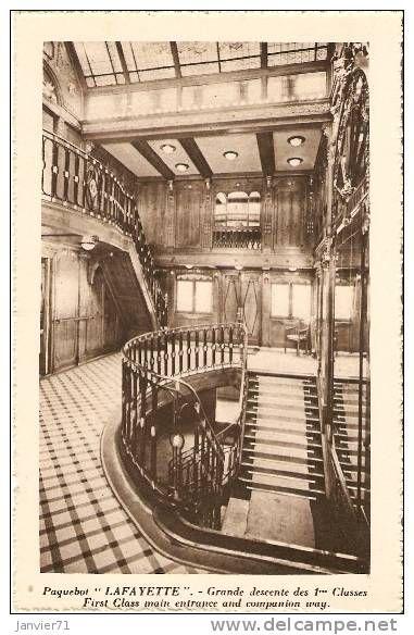Big Ships Engine Rooms: M.S. Lafayette, 1st Class Main Entrance