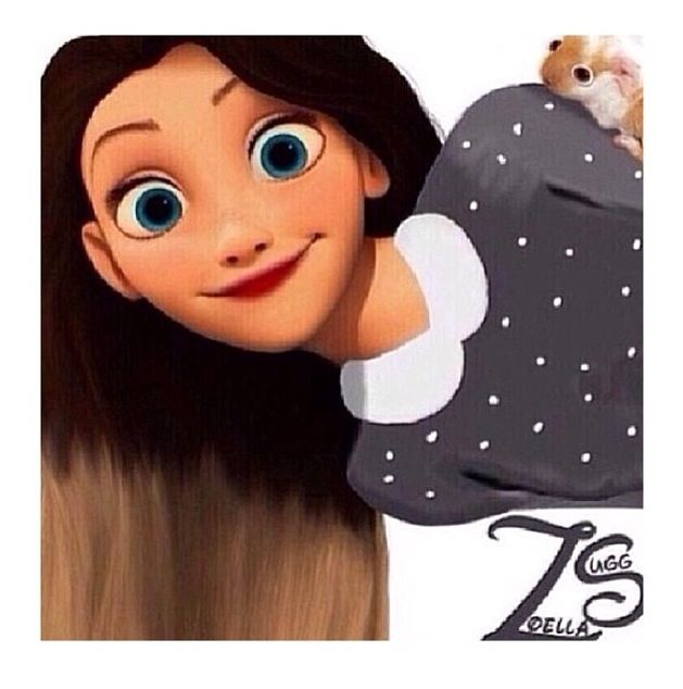 Zoella as a disney princess