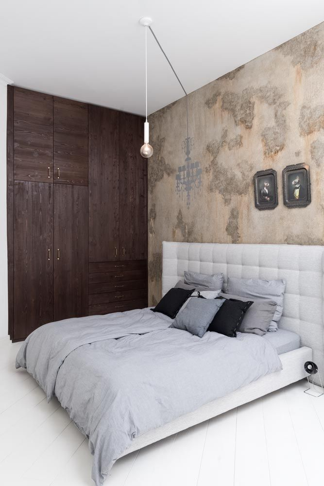 bedroom with antic surface wardrobe