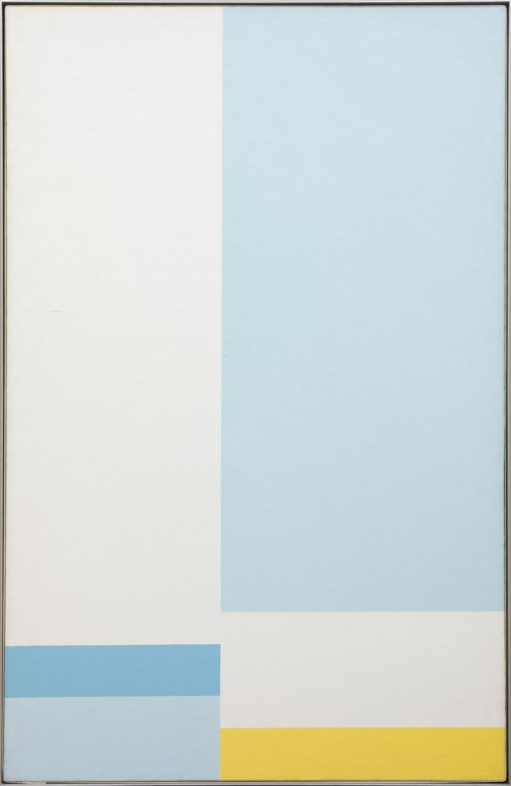 "John McLaughlin, ""#15-1958"" (1958), oil on canvas, 60 x 38 inches"