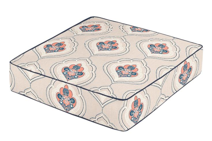 Buy Custom Boxed Floor Pillow by Loom Decor - Made-to-Order designer Accessories from Dering Hall's collection of Chinoiserie Contemporary Mid-Century / Modern Traditional Transitional Pillows.