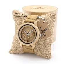 BOBO BIRD Vintage Deer Head Skeleton Design Bamboo Wood Wrist Watch Mens Womens Timepiece with Leather Bands in Watch Box(China (Mainland))