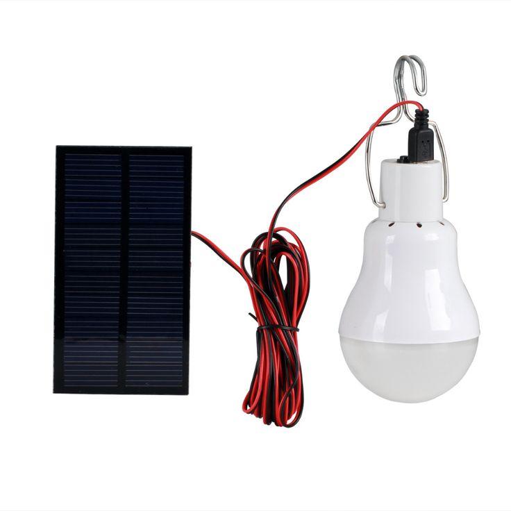 Panel Solar Patio de Luz Solar Powered Bombilla LED Impermeable LED Linterna Que Acampa Al Aire Libre Campamento Lámpara del Proyector de Iluminación