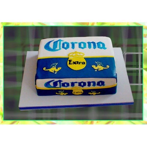Pastel del Carton de Cerveza Corona